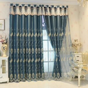 Blackout Valance Curtains Thermal Insulated Double Layer Grommet Top Upholstery
