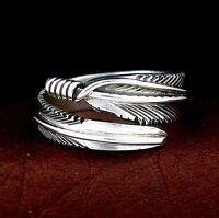 Sterling Silver Ladies Feather Wrap Ring - Select Size --- R19 W t