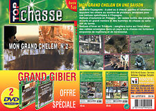 Lot 2 DVD Battues grand gibier : Grand Chelem - Chasse du grand gibier
