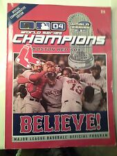 2004 World Series Champions Boston Red Sox Believe MLB Official Program Sports M