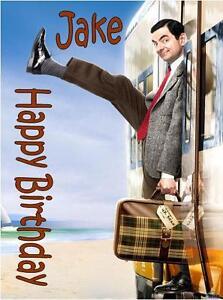 PERSONALISED Mr Bean Rowan Atkinson BIRTHDAY CARD A5anyNAMEage GREETING OCCASION