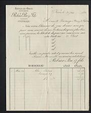 "NEVERS (58) TISSUS en gros ""G. MATISSE / REBRIER Pere & Fils Succ"" en 1890"