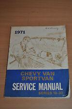 Werkstatthandbuch CHEVROLET 1971 Chevy Van Sportvan Service Manual Series 10 30