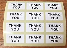 THANK YOU Craft Labels Stickers 20mm x 10mm Black on White or Brown