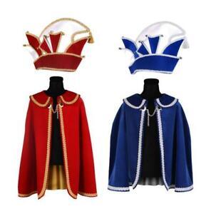 Prinzen Kostüm Prinz Umhang Cape Mütze Kappe Prunk Narren Ornat Prinzenkappe Hut