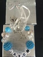Personalised Babys First 1st Christmas tree decoration bauble blue 2018 baby boy