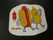 PORTILLOS Mustard Ketchup STICKER decal chicago dog hot dog italian beef
