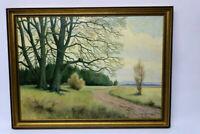 Gustav Müller Gemälde Novemberstimmung 1974