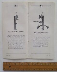 hp48 Moline Iron Works industrial molding machines / John Deere is a customer