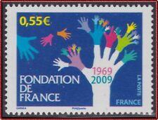 2009 FRANCE N°4335**  Fondation de France, Mains arbre, Tree hands MNH