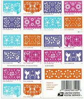 US #5081-5090 5090a COLORFUL CELEBRATION (2016) Booklet Pane, 20 Forever Stamps