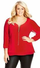 Chiffon 3/4 Sleeve Career Tops & Blouses for Women