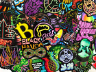 20 Random Colorful Neon Style Skateboard Laptop Stickers Lot - Fast US Shipping