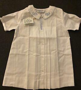 NWT Feltman Bros Brothers Boys White Daygown Gown Newborn Heirloom