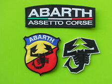 ABARTH  PATCH KIT 3 TOPPE RICAMATE TERMOADESIVE