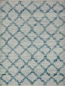 4' x 6' Rug | Hand Dhurrie  Wool White Green Area Rug