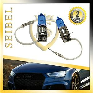 2er Set H3 55W Xenon Style/Look Lamps White Halogen Bulbs Autolampe Honda
