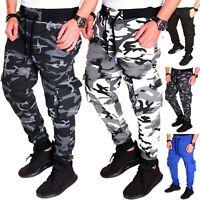 Herren Jogginghose Sporthose Fitness Sport Jogging Camouflage Army Hose Neu