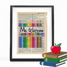 Personalized Art Teacher Dictionary Art Print Mixed Art Artist Gift Print