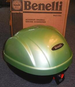 Benelli Ducati Guzzi BRAND NEW luggage rear top case + mount for helmet - GREEN