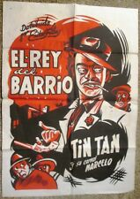 "TINTAN  in ""EL REY DElL BARRIO"" 1/2 Sheet 1949 Vintage Mexican Poster by CABRAL"