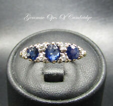18ct Gold Sapphire and Diamond Ring Size N 2.8g