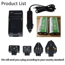 2X CR-V3 Battery+charger FOR Canon Powershot A60 A70, RCR-V3 CR-V3P D565 C-5050