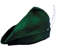 Peter Pan Elf Felt Green Hat With White Feather One Size Rasta Imposta