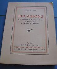 ARMAND LUNEL OCCASIONS 1926 EO JUDAÏCA PROVENCE 1 des 100 / Vergé NRF IN-4