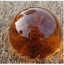 Asian Rare Natural Quartz Amber Magic Crystal Healing Ball Sphere 40mm+Stand