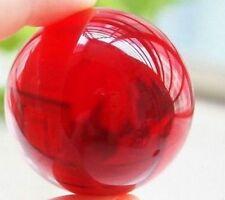 Asian beautiful natural quartz crystal healing magic red ball ball 40 mm + stand