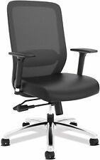 Hon Exposure Executive Mesh Amp Leather High Back Desk Task Chair Hvl721sb11