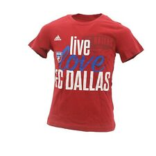 FC Dallas Official MLS Adidas Apparel Kids Youth Girls Size T-Shirt New Tags
