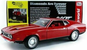 1:18 Ford Mustang Mach 1 James Bond 007 Diamonds Are Forever AUTO WORLD AWSS126