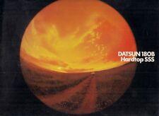 Datsun Nissan Bluebird 180B SSS Hardtop 1973-74 Export Market Brochure English