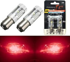 LED Light 30W BA15D Red Two Bulbs Turn Signal DRL Daytime Parking Drive