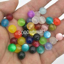 wholesale 100pcs Mixed color Acrylic cat's eye Loose Charm spacer beads 10MM