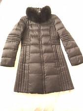 MAX MARA (Main Line) Black Down Fox Fur Hooded Puffer Coat Jacket 40IT/2-4-6US
