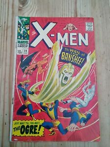 X-Men #28 (uncanny) 1st appearance Banshee Marvel Comics