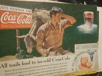 Coca-Cola Ad All Trails Lead To Ice Cold Coca-Cola