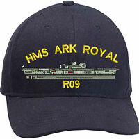 HMS ARK ROYAL (R09) Embroidered Baseball Caps & Beanies