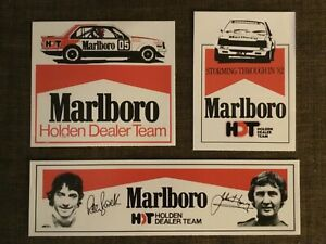 Holden Commodore Sticker Suit VC HDT Brock Marlboro SLE Group A x 3