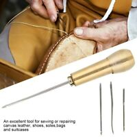 Canvas Leather Tent Sewing Awl Hand Stitcher Leather Craft Needle Kit Tool
