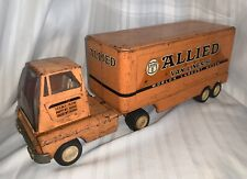 Vintage Tonka Allied Van Lines Mover Orange Semi Truck Trailer Original AS IS
