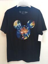 Black MICKEY mouse NEFF Medium Mens T-Shirt Disney Unusual Tie-Dye design