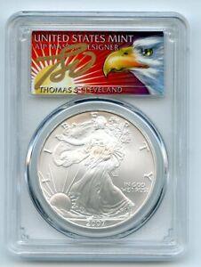 2007 $1 American Silver Eagle Dollar 1oz PCGS MS70 Thomas Cleveland Eagle