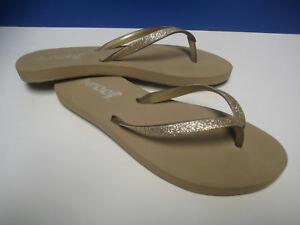 reef gold glitter flip flops