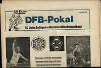 DFB-Pokal 84/85 SG Union Solingen - Borusssia Mönchengladbach, 15.02.1985 Extra