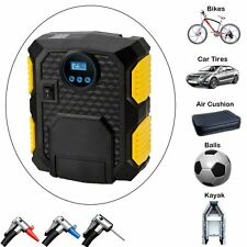12V Portable Digital Tire Inflator Car Electric Air Compressor Pump Light 150PSI