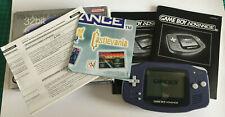 Nintendo Game Boy Advance Blue Handheld System Boxed Gameboy